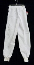 P.R.N White Nursing Uniform 4XL Petite Elastic Waist Knit Cuff Scrub Pan... - $19.57