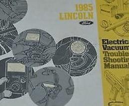 1985 ford lincoln town car electric diagram evtm service shop manual - $18.77