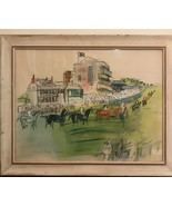VINTAGE FRENCH FAUVIST RAOUL DUFY EPSOM HORSE RACE - $925.00