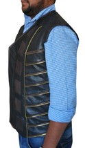 Dark Matter Three Anthony Lemke Black Leather Padded Vest image 3