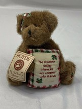 "Boyds Bear Beary Goodfriend Christmas Holiday Holly Pillow Girl 8"" Plush - $11.65"