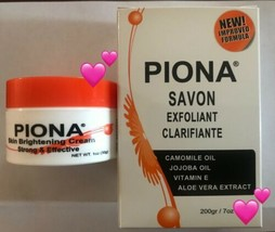 Piona Exfoliating Soap 7 Oz And Piona Cream 1 Oz  Bundle Pack ~ FREE SHI... - $27.71