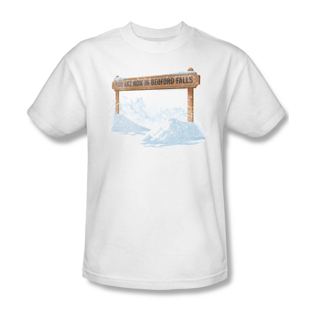 Primary image for  Bedford Falls It's A Wonderful Life Christmas Movie Graphic T-shirt PAR140