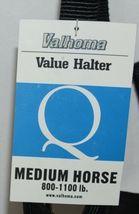 Valhoma 811QBK Black Medium Horse Halter Eight to Eleven Hundred Pounds image 4