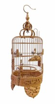 Chinese Bamboo Dimensional Zodiac Animals Carving Birdcage Display cs1 - $3,735.00