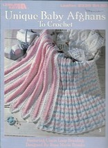 Unique baby Afghans to Crochet 6 Designs to Crochet Leisure Arts 2335 1993 - $3.46