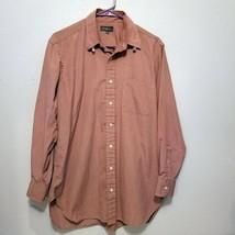 Robert Talbott Mens Button Down Red Dress Shirt Long Sleeve Size 15.5-33 - $17.59