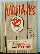 1951 Cleveland Indians Baseball Program v Boston Red Sox UNS Williams Do... - $44.55