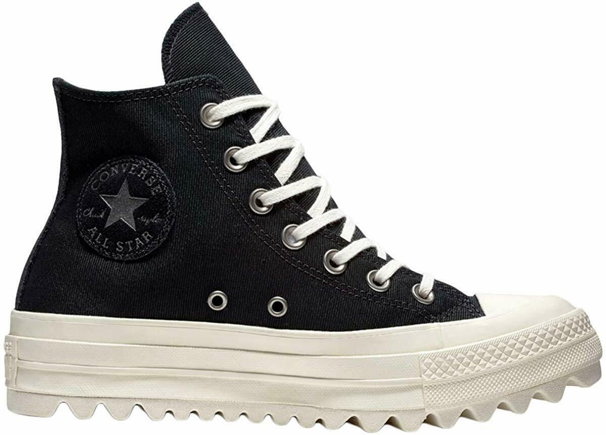 Women's Converse Chuck Taylor All Star Lift Ripple Hi, 561671C Multi Sizes Black