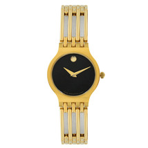 Movado Esperanza Museum Black Dial Steel Quartz Ladies Bracelet Watch 06... - $999.00