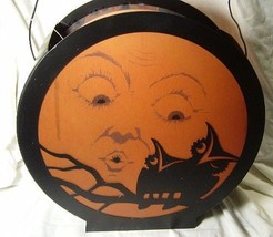 Bethany Lowe Halloween  Vintage style Moon with Owl Lantern with Light - $73.98