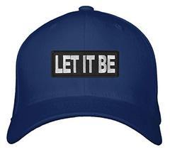 An item in the Sports Mem, Cards & Fan Shop category: Let It Be Hat - Adjustable Cap (Navy Blue)