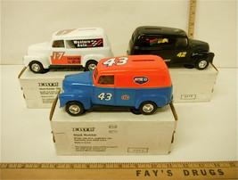 Lot of 3 Ertl 1950 Panel Truck Bank Petty Mello Yellow Western Auto 1/25... - $39.73