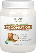 Viva Naturals Organic Extra Virgin Coconut Oil, 54 Ounce - $29.18