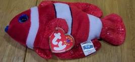 """TY Beanie Baby JESTER CLOWN FISH 8"""" Stuffed Animal NEW - $15.35"""
