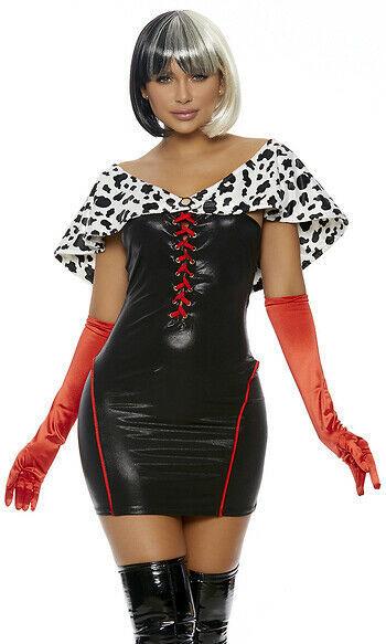 Forplay Its A Cruella Welt De Vil Sexy Erwachsene Damen Halloween Kostüm 558769