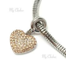 Swarovski European Hang Bracelet Charm Stainless Steel BeCharmed Pave Crystal image 6