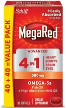 Schiff MegaRed Advanced 4 in1- 500mg, Omega-3s Fish Oil - Krill Oil 240 ... - $30.00