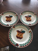 "Tabletops Unlimited ""A Is For Apple"" Salad/Dessert Plates - Set of 3 B43 - $11.64"