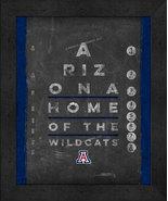 "Arizona Wildcats 13x16 College ""Chalkboard Look Eye Chart"" Framed Print - $39.95"