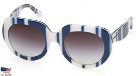 New D&G Dolce&Gabbana DG4191P 2720/8G White Striped Blue /GREY Lenses Sunglasses - $108.90