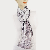 New COLLECTION XIIX 18 Paradise Calling Wrap Soft Rayon Geo Print Scarf - €7,16 EUR