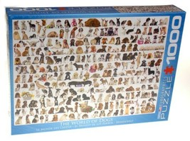 Eurographics The World of Dogs Jigsaw Puzzle 1000 PC 19x26 Made USA 6000... - $14.99