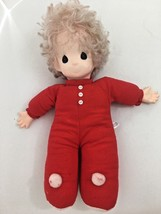 """CHRISTMAS PRECIOUS MOMENTS RED 16"""" DOLL Vintage 1993 - $12.40"""