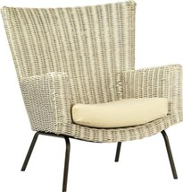 Occasional Chair DOVETAIL ARIS Black White Distressed - $1,149.00