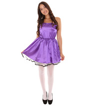 Adult Women's 50s Prom Dress Costume | Medium Purple Cosplay Costume - £29.71 GBP