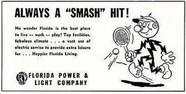 Reddi Killowatt 1956 Florida Power Light Co. Electric Utilities Advertising - $14.99