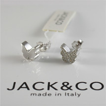 925 RHODIUM SILVER JACK&CO EARRINGS WITH BUTTERFLY CUBIC ZIRCONIA MADE IN ITALY image 2