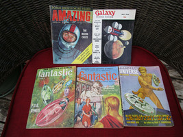 Vintage 5 Science Fiction Magazines/Books-Fantastic/Galaxy/Amazing 1957-58 - $19.99