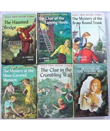 Nancy Drew 6 Lot nos.15, 16, 17, 18, 22, 23 Yellow Spine Picture Cover E... - $16.00