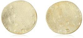 Kenneth Jay Lane Satin Gold Coin Clip-On Earrings - $39.64