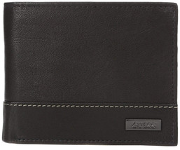 Guess Men's Premium Leather Credit Card ID Billfold Wallet Black 31GU20X001