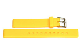 14MM YELLOW SMOOTH RUBBER WATERPROOF SPORT DIVER WATCH BAND STRAP - $12.38
