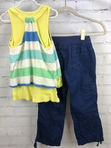Justice Outfit Set - Layered cotton Tank Top + Roll Up Capri Pull On Pants Sz 10 image 7