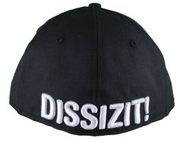 Dissizit California Skating Bear Black Red New Era 59FIFTY Fitted Baseball Hat image 4