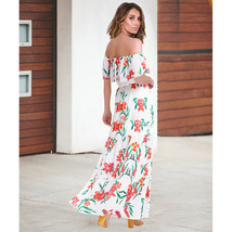 Fashio A Line Women Beach Bohemian Skirt Strapless Long Prom Party Gowns... - $25.11