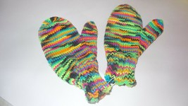 Handmade Mittens Womens Blacklight - $8.50