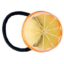 Set Of 5 Grapefruit Hair Rope Rubber Band Ponytail Holders Hairpin Headdress