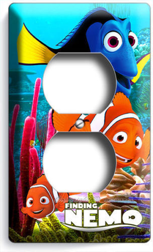 FINDING NEMO CLOWN FISH DORY SEA OCEAN CORAL REEF DUPLEX OUTLET WALL PLATE COVER