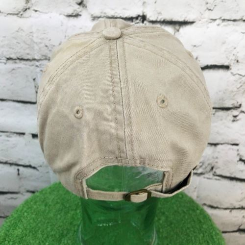 Columbia Slough Watershed Council O/S Hat Beige Khaki Strapback Ball Cap Flaw