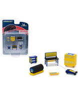 Greenlight Muscle 6pc Set Shop Tools Michelin Tires 1/64 by Greenlight 1... - $15.32