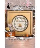 B is for Beekeeper cross stitch chart Heartstring Samplery - $9.00