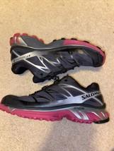 Salomon Mens XT Wings 3 308754 Grey Red Running Shoes Drawstring Size 6.5 - $39.99