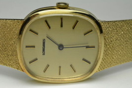 "Men's Estate Longines Wristwatch 14k Yellow Gold 17 Jewels 31mm Case 7.5"" Long - $2,450.00"
