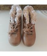 Oshkosh Brown Fur Lined Boots Size 12 Kids - $14.03
