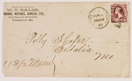 Kansas City  Watches, Jewelry Dealer 2c Stamp Enveloppe Antique Paper - $9.90